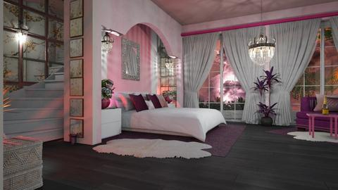 Pink and Purple - Modern - Bedroom  - by ZsuzsannaCs