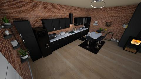 family home 172 - Minimal - Kitchen  - by Stavroula Chatzina