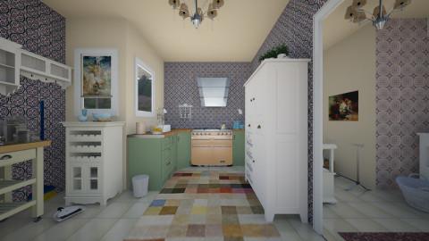 kitchen and utility - Vintage - Kitchen  - by mrschicken