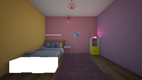 urauraka dorm room - Bedroom  - by crying_room