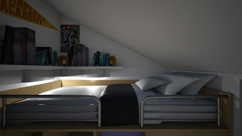 Hidden Attic Bedroom - Bedroom  - by SammyJPili