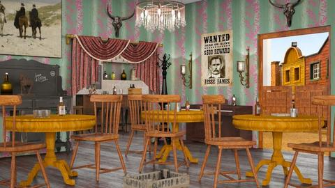 Western Saloon Design - Rustic - by Sally Simpson