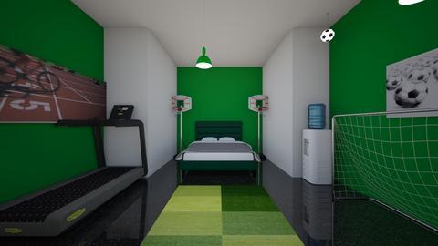 Sports Fan - Bedroom  - by skye245