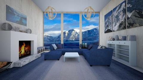 Big Windows Mountainside - Living room  - by Woodsmoke22