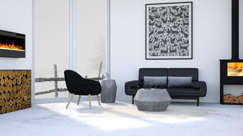 Minimalistic Winter - Minimal - Living room  - by millerfam