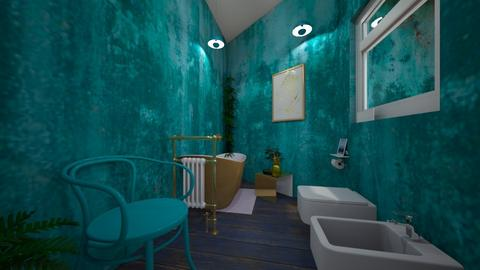 Big Bad and Turquoise - Modern - Bathroom - by HARPERANTIKAINEN