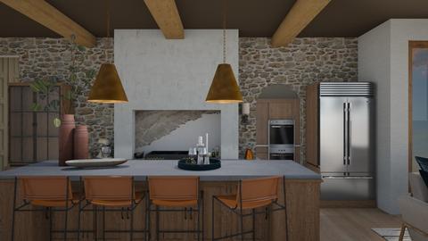 modern rustic kitchen - Kitchen  - by switte94