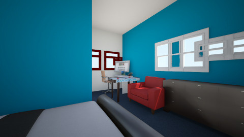 awesome bedroom - Retro - Bedroom  - by Colin_818