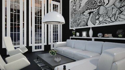 B and W - Modern - Living room  - by milyca8