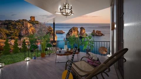 Capri sunset - Rustic - Garden  - by BlackOrchidea