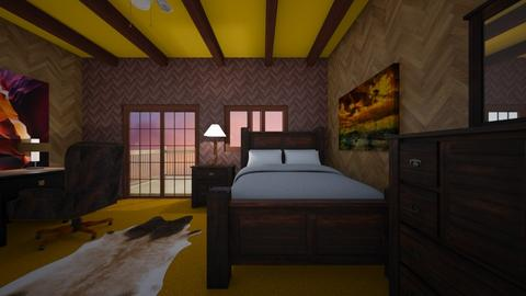 Rustic Western - Bedroom  - by mspence03
