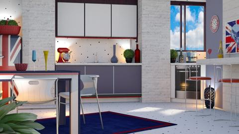 Colorful kitchen - Modern - by sukica