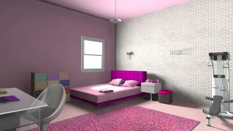 purple - Bedroom  - by zerya sama