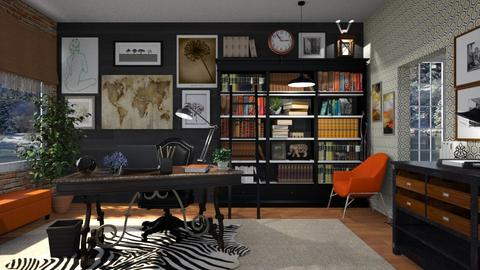 Eclectic Office - Office  - by  krc60