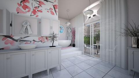 cherry blossom bathroom - Bathroom  - by brightlife