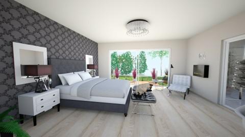 Bedroom with bath - Glamour - Bedroom  - by Magdalena Moskal