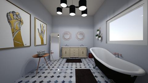 Purple room 4 - Eclectic - Bathroom  - by Meredith Crummey