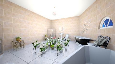 Flower garden - Rustic - Bathroom  - by Josiemay1234