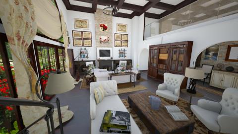 White living room - Rustic - Living room  - by maja97