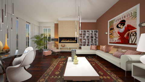 Rustic Rosa By Janip - Rustic - Living room  - by nina50