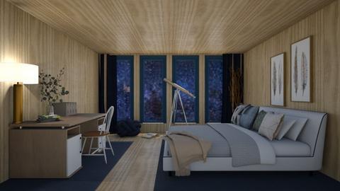 Night Sky Bedroom - Bedroom  - by Maria Rachel