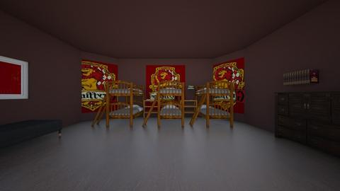 gryggindor boys room - Bedroom  - by crying_room