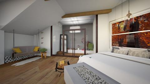 Attic bedroom autumn - Bedroom  - by abbysrooms