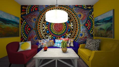 Colorful Happiness  - Living room  - by brownbox