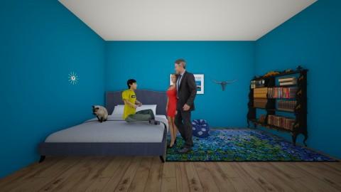 ocean blue bedroom - Bedroom - by CEKEYA JOHNSON
