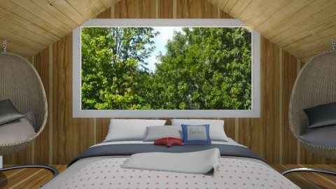 Cabin Bedroom - Country - Bedroom  - by CeeCee_