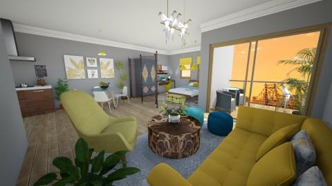 Sunny City Life - Living room  - by Faye Dela Cruz
