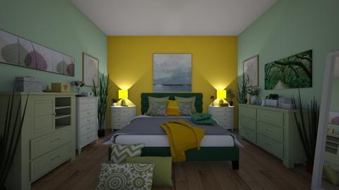 Sleeping in the Green - Global - Bedroom - by Irishrose58