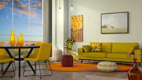 M_ Sunflower - Living room - by milyca8