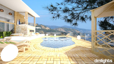 villa - Modern - Garden  - by DMLights-user-982918
