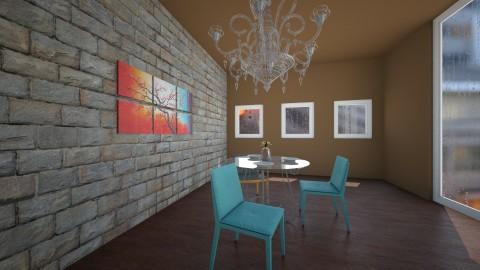 Dark ceiling room - Dining room - by Julieisawesome