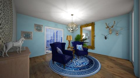blue living room - Living room  - by JessK
