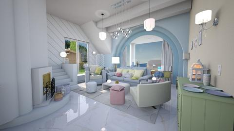 Pastel Living - Living room  - by caitlincayce