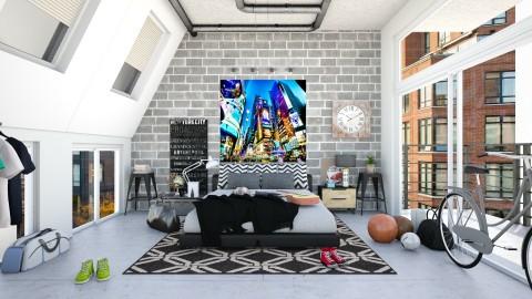 Walters NYC Inspired Loft Bedroom - Modern - Bedroom  - by creativediva