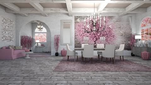 CHERRY BLOSSOM SURPRISE - Feminine - Living room  - by RS Designs