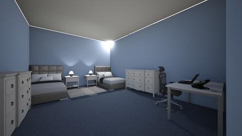 twin bedroom 2 - Modern - Bedroom  - by kmcdonald020910