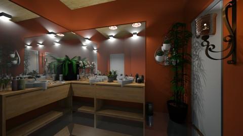 mirrored bathroom - Bathroom - by mackenzie3