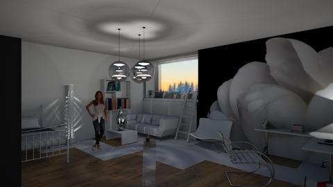 White Bedroom - Modern - Bedroom  - by khayla simpson