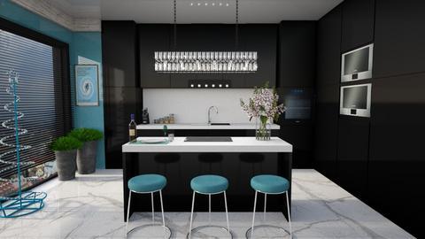 Black kitchen - Kitchen  - by snjeskasmjeska