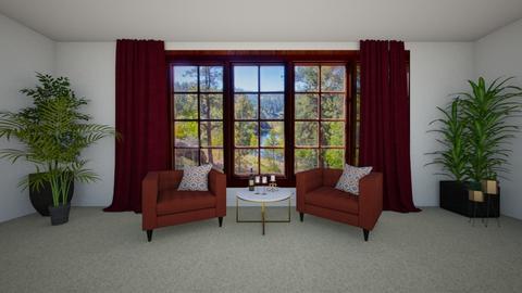 Burgundy Living - Vintage - Living room  - by Maria Rachel