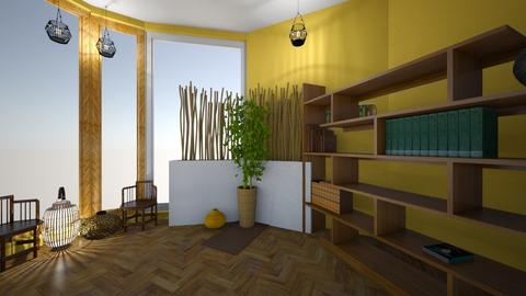 Bamboo oasis - Living room  - by MoolyLOL