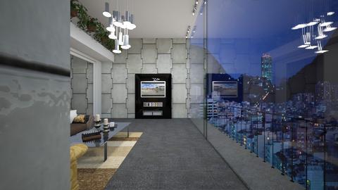 Cobertura Living - Glamour - Living room  - by Mariesse Paim
