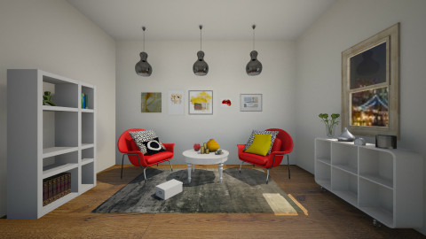 stylish and colourful  - Modern - Living room - by jana krstic