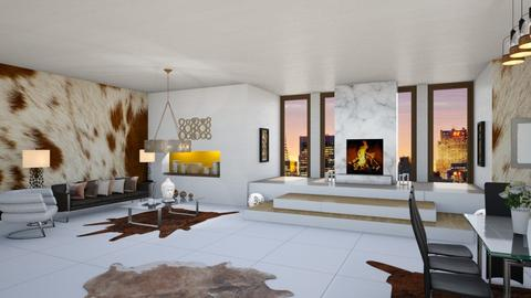 Penthouse 12th room - Living room  - by shoalehnia