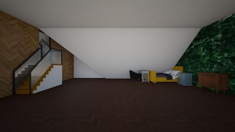 Simple Attic Bedroom Template - Modern - Bedroom - by designcat31