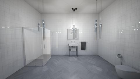 tiled bathroom - Bathroom  - by OferneH